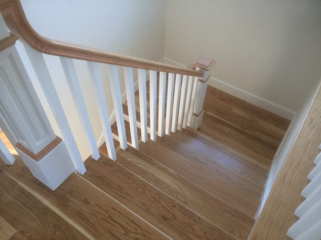 Beautiful hardwood staircase